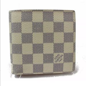 Louis Vuitton Wallet Portefeuille Damier Azur